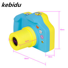 Kebidu Portable Mini Camera Cute Digital Cam 1080P Video Recorder Pink Blue Color for Baby Boys Girls Support 32G TF/MIC SD Card(China)