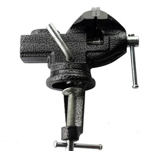 Table Bench Vise with Locking 360 degree Swivel Base Table top Clamp Clamps Cast Steel(China)
