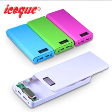 Icoque (No Battery) for Xiaoxi Mi Power Bank 18650 Box Mobile Phone Charger 8x18650 Powerbank DIY Case Dual USB LCD Power Bank(China)