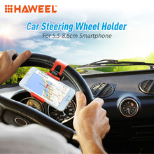 HAWEEL Car Steering Wheel Universal Cradle soporte movil Car cellphone Holder For Apple iPhone 7 6 5S 5C 5 4S support telephone