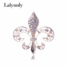 Fashion rhinestone crystal brooches for women jewelry imitation pearl anchor alloy brooch pins Wholesale accessories XZ00291