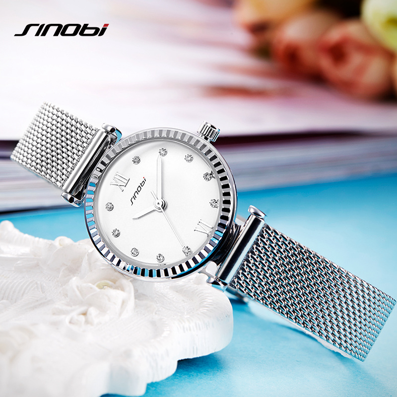 Sinobi Reloj Mujer Fashion Women Watches Brand Womens Bracelet Watch Lady Quartz Wrist Watch Women Relogio Montre Femme 2017<br>