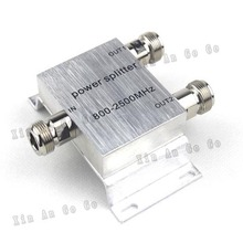 RF Coaxial Splitter 1 to 2 Way Power Splitter 800-2500MHz Signal Booster Divider N female 50ohm Free shipping