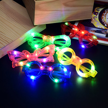 2017 Funny Cool Style Sunglasses Christmas Gifts Holiday Lighting With 6 LED Luminous Kid Flashing Light Up Toys Glasses