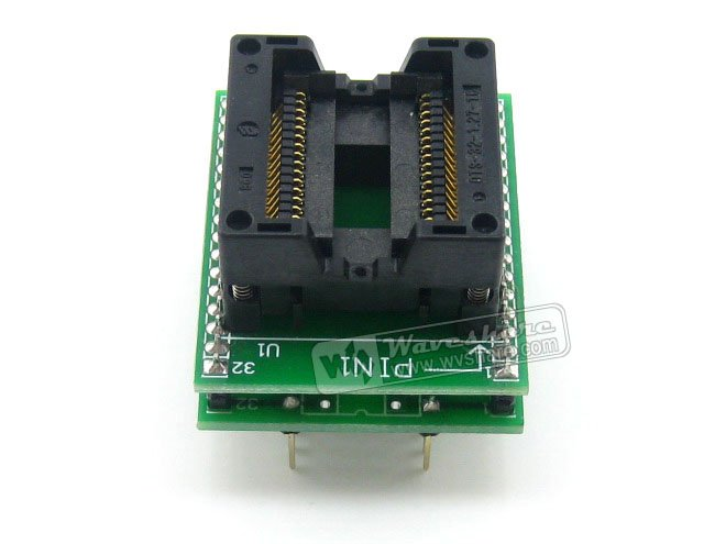 module Waveshare SO32 SOIC32 SOP32 TO DIP32 (B) OTS-32-1.27-16 Enplas IC Adapter Test Socket 1.27mm Pitch 11.25mm Width<br>