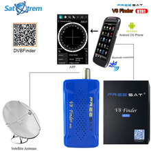 Satxtrem Freesat V8 Finder-BT01 Bluetooth DVB S2 Satellite Finder Meter With Android System App for DVB-S2 Satellite Receiver(China)