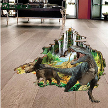 3D Three-Dimensional Wall Stickers Wholesale Creative Children's Room Decorative Wall Stickers Bedroom Boy Dinosaur Sticker(China)