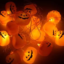 16 LED Skull/Pumpkin String Light Lamp Festival Party Outdoor Bar Decoration Christmas Fairy Lights 3m(China)