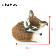 StZhou Super Cute Simulation Fox Plush Toys Kids Appease Doll Christmas Birthday Gifts