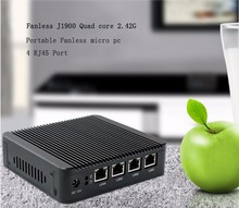 OEM Types of celeron J1900 4 LAN quad core fanless win 7 computer in china DHL free shipping(China)
