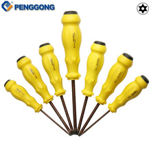 PENGGONG Magnetic Screwdriver Set Multipurpose S2 Torx T6/T10/T15/T20/T25/T27/T30mm Plastic Handle  Repair Tools 7Pcs