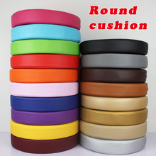 New Synthetic Leather Cushion Round Cushion Sofa Chair Foam Cushion Chair Pads Office Vehicles Home Seat Cushion Water proof(China)