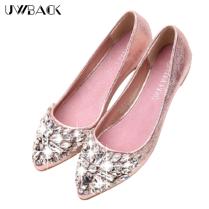 2017 New Brand Summer Rhinestone Shoes Women Casual Flats Shoes Femme PU Leather Ladies Sandals Breathable Point Toe Shoes XJ076<br><br>Aliexpress