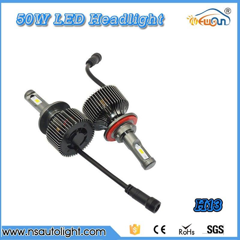 H13 LED Headlight High Low Beam front  auto headlight 50w*2 100W Car LED Light Bulb Auto Headlamp  Fog lamp light DC 12V 24V <br><br>Aliexpress