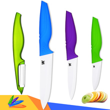 Multi color ceramic cutlery kitchen knives with fruit peeler classic ceramic knives 4 pcs set best professional cooking knives