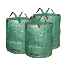 3 Pieces Gardening Tool Bag Reusable Heavy Duty Plastic Gardening Waste Bags Lawn Pool Yard Lawn Garden Leaf Waste Bag Collector