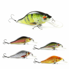 "5 Color 3.5""/10.7g Bionic Crankbait 3D Eyes Fishing Lure Unique Body textures Fish Bait 6# Strong Treble Hooks pesca HML11B"