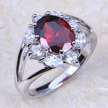 Engagement Rings Cubic Zirconia Rings Luxurious Red Jewelry Wedding Ring Women Ring For Party Buy A Gift J007(China)