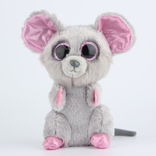 Ty Beanie Boos Gray Mouse Plush Toy Doll Stuffed Animals & Plush