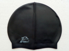 Swimming cap silicone hats water-proof elastic Adult Swimming Caps good quality color Black(China)