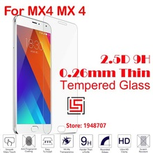 Explosion Proof Cheap Best New 2.5D 0.26mm 9H Phone Front Tempered Toughened Temper Glass For Meizu Miezu Mezu Meizy MX4 MX 4