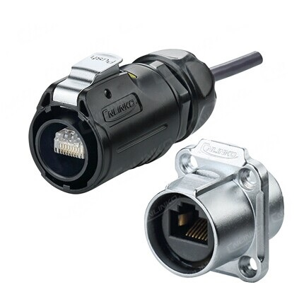 Pair of RJ45 Field installable Plug + Panel Housing Assembly Feed Through Quick Connect IP67 waterproof <br><br>Aliexpress