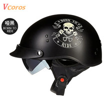 TORC New Arrival Vintage Half Face Motorcycle Helmet Casco Casque Moto Harley Retro Helmets With Inner Sun Visor lucky 13 helmet(China)