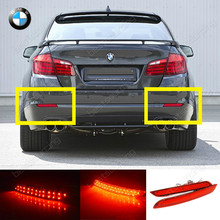 Buy 2x 5-series F10 F11 F182 Red LED Rear Bumper Reflector Brake Stop Reverse Tail Light, CA177 for $18.90 in AliExpress store
