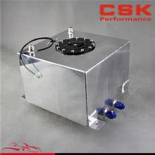 5 Gallon 19 Liter Racing Drift Fuel Cell Tank Polished Aluminum W/ Level Sender