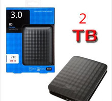 Free shipping Three years of high quality warranty M3 2TB external HDD 1000GB portable hard drive disk USB 3.0 100% original new