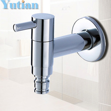 Cold Tap Washing Machine Bathroom Faucet Bibcock faucet tap crane Brass washing machine, laundry mop pool cock torneira grifos(China)