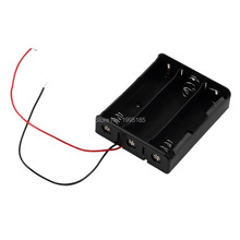 Battery Case Storage Box Case Plastic Holder With Wire Leads for 3 x 18650 Batteries Soldering Cnnecting Black Wholesale