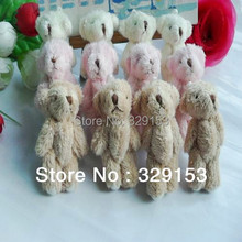 H-6cm lovely Mini Stuffed Jointed Bear Gift Flower Packing Teddy Bear Long wool bears 100pcs/lot(China)