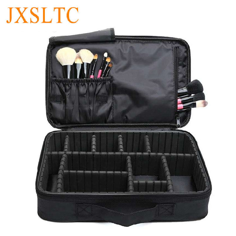 Professional makeup Bag Multilayer Make-up Cases  Waterproof Oxford Cloth Cosmetic bag Kosmetiktasche  Cosmetic bags Beautician<br>