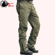 Tactical Pants Male 카 모 Jogger Casual Men's Cargo Pants 면 Trousers Multi Pocket Military Style Army Camouflage Black urban(China)
