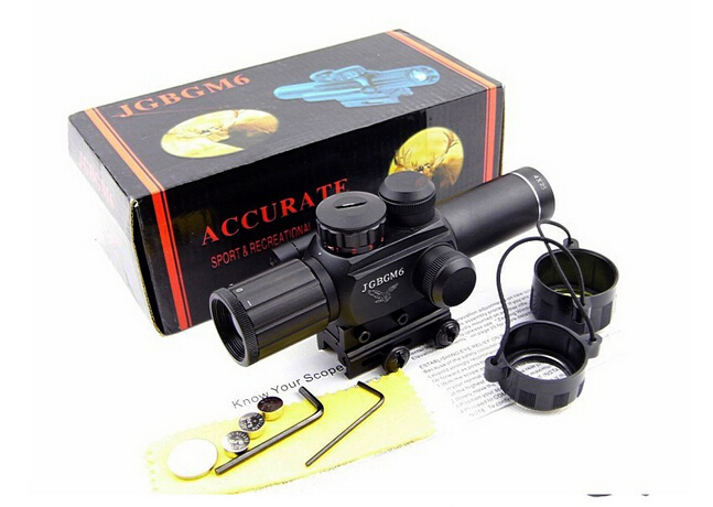 caza hunting scopes M6 4X25 hunting rifle scope with red laser sight water/fog proof hunting scopes<br><br>Aliexpress