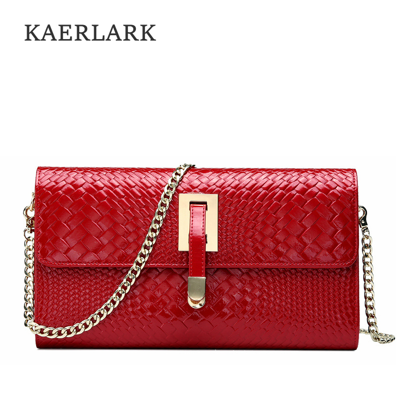 Kaerlark Brand New 2017 Women Chain Shoulder Evening Bags Female Ladies Girls PU Leather Crossbody Messenger Handbags WD0145<br>