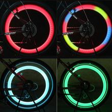 Bicycle Wheel LED Spoke Light Flasher Spoke Lights Motorcycle Cycling Bicycle Bike Wheel Signal Tire (Red+Blue+Green+Multicolor)
