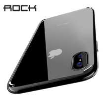 For iPhone X Case,ROCK Slim Case For iPhone X Ultra Thin Capinhas PC & TPU Silicone Cover Capa For iPhoneX Buy One Get One Free(China)