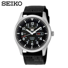 SEIKO Watch No. 5 Automati Mechanical steel waterproof men watch SNZG15J1 SNZG15K1(China)
