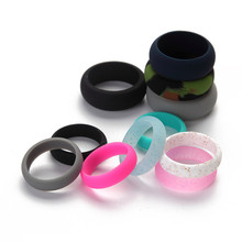 New Design Environmental silicone Female Ring 5 6 7 8 9 Size For Women Girls Office Lady Finger Jewelry(China)