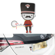Cute British Soldier Sticker Reflective Decal 1PC JDM Style For Cars SUVs Trucks