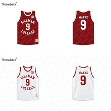 Dwayne Wayne #9 Hillman College Maroon with Eagle Patch Throwback Movie Basketball Jersey Stitched S-4XL(China)