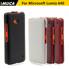 for microsoft lumia 640 case flip leather cover for Nokia Lumia 640 imuca case luxury mobile phone accessories retail package(China)
