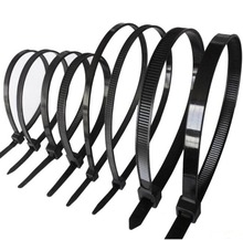 wire zip tie  250Pcs/pack 3*250mm   width 2.8mm black color Factory Standard self-locking Plastic nylon cable ties