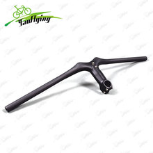 Full carbon bicycle handlebar 3K weave carbon mountain handlebars Integrated handlebar with stem Ultra light carbon handlebars(China)