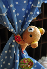 Plush toy 1pc 13cm little doll Rilakkuma bear elephant window curtain buckle stuffed toy creative gift for baby(China)