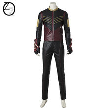 The Flash Vibe Cosplay Costume Superhero Vibe Outfit Halloween Carnival Suit  Full Set Adult Men Leather Jacket Pants T dd742d240381