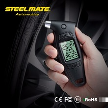 "Clear Stock Steelmate TPMS TC-01 Handheld Car Digital Tire Pressure Gauge 1.6"" LCD Display Power-off Memory Bar/PSI Ergonomic(China)"