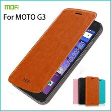 Mofi For Motorola Moto G3 2015 Case Flip Pu Leather Stand Phone Cases Book Style Cell Phone Cover For Motorola G3(China)